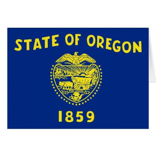 Bandera del estado de Oregon Tarjetas