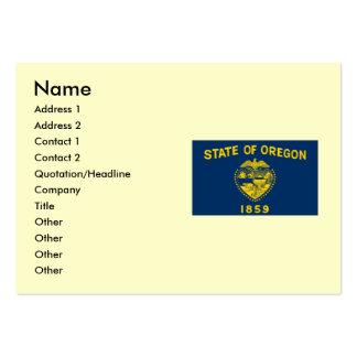 Bandera del estado de Oregon Tarjetas De Visita Grandes