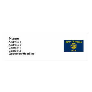Bandera del estado de Oregon Tarjetas De Visita Mini