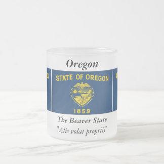 Bandera del estado de Oregon Taza De Cristal