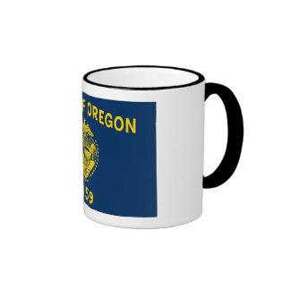 Bandera del estado de Oregon Taza De Dos Colores