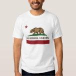 bandera del estado de Palm Spring California Playeras