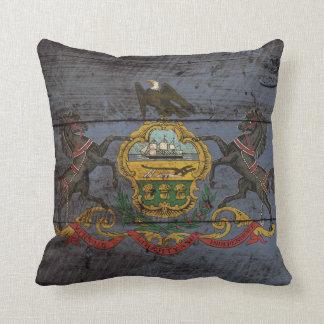 Bandera del estado de Pennsylvania en grano de Cojín Decorativo