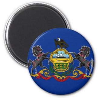 Bandera del estado de Pennsylvania Imán Redondo 5 Cm