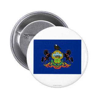 Bandera del estado de Pennsylvania Pin Redondo 5 Cm