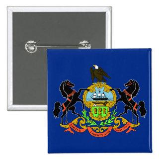 Bandera del estado de Pennsylvania Pin Cuadrada 5 Cm