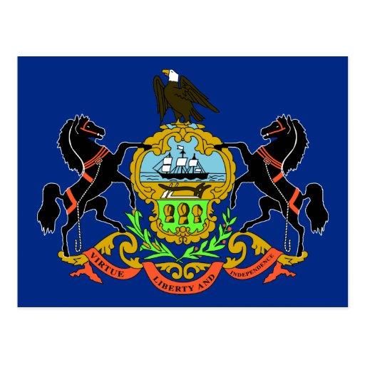 Bandera del estado de Pennsylvania Tarjeta Postal