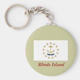 Bandera del estado de Rhode Island Llaveros