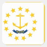 Bandera del estado de Rhode Island Pegatina Cuadrada