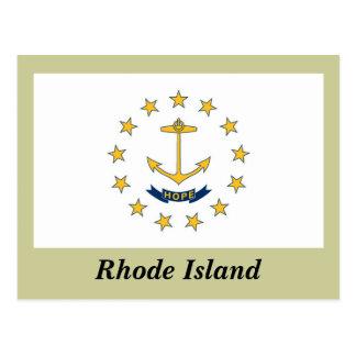 Bandera del estado de Rhode Island Tarjetas Postales
