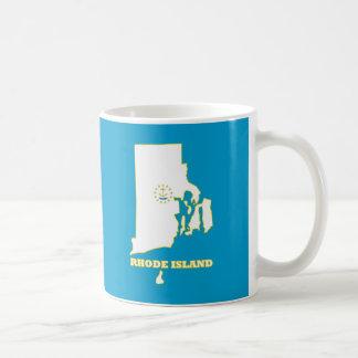 Bandera del estado de Rhode Island Tazas De Café