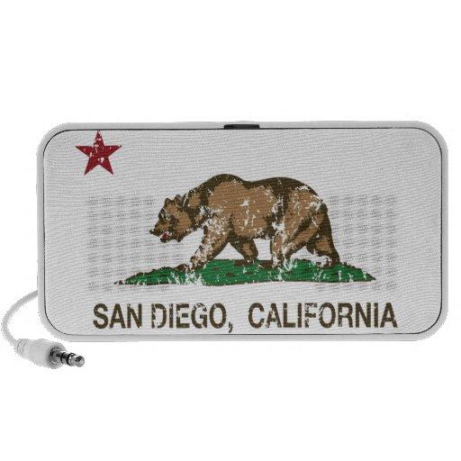 Bandera del estado de San Diego California Mp3 Altavoz