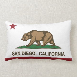 Bandera del estado de San Diego California Cojín