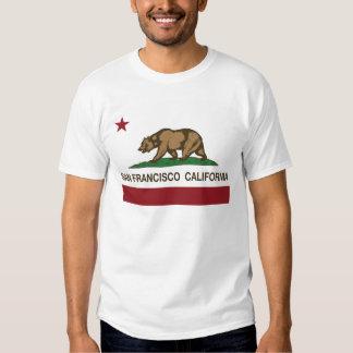bandera del estado de San Francisco California Playera