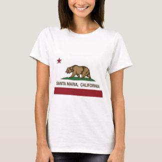 bandera del estado de Santa María California Playera