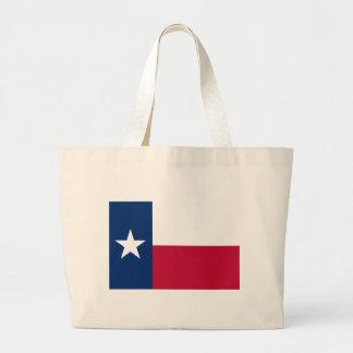 Bandera del estado de Tejas Bolsa Tela Grande