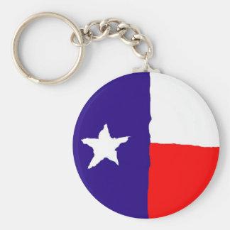 Bandera del estado de Tejas del arte pop Llavero Redondo Tipo Pin