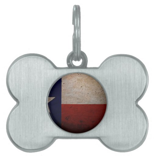 Bandera del estado de Tejas Placa De Mascota