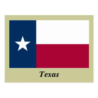 Bandera del estado de Tejas Postales