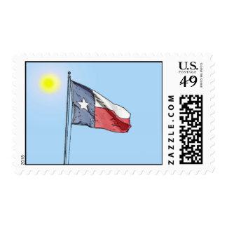 Bandera del estado de Tejas Sello Postal