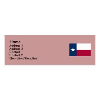 Bandera del estado de Tejas Tarjeta De Visita