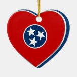 Bandera del estado de Tennessee Adorno De Navidad