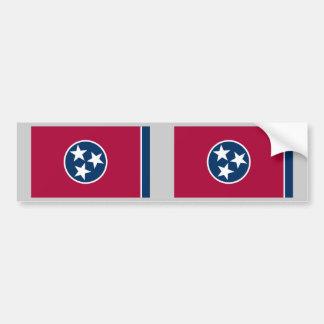 Bandera del estado de Tennessee Pegatina De Parachoque