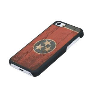 Bandera del estado de Tennessee en grano de madera Funda De iPhone 5C Slim Arce