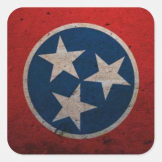Bandera del estado de Tennessee Pegatina Cuadrada
