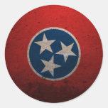 Bandera del estado de Tennessee Pegatina Redonda