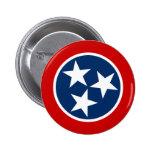 Bandera del estado de Tennessee Pin Redondo De 2 Pulgadas