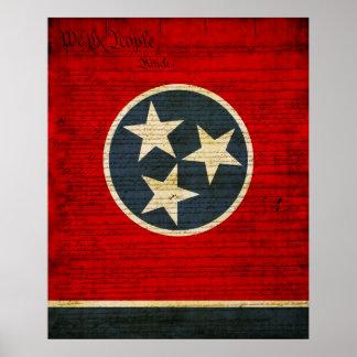 Bandera del estado de Tennessee Póster