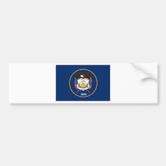 Bandera del estado de Utah Pegatina De Parachoque