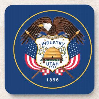 Bandera del estado de Utah Posavasos