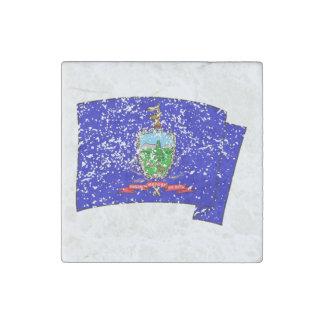 Bandera del estado de Vermont (apenada) Imán De Piedra
