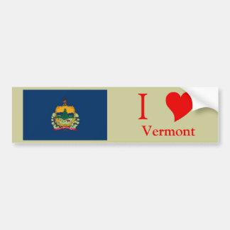 Bandera del estado de Vermont Etiqueta De Parachoque
