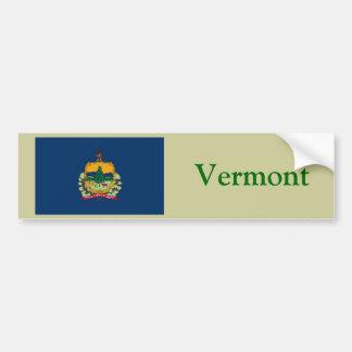 Bandera del estado de Vermont Pegatina De Parachoque