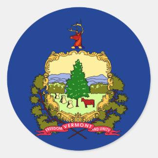Bandera del estado de Vermont Etiquetas Redondas