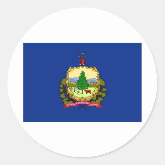 Bandera del estado de Vermont Etiqueta Redonda