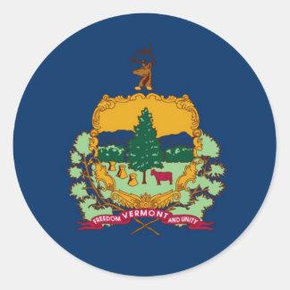 Bandera del estado de Vermont Pegatina Redonda