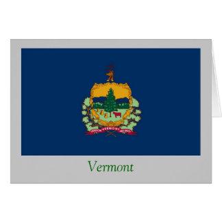 Bandera del estado de Vermont Tarjeta De Felicitación