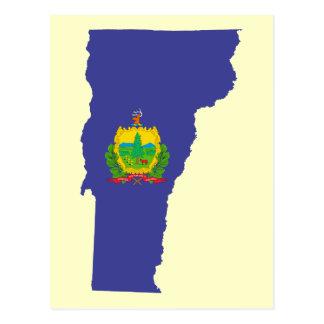 Bandera del estado de Vermont Tarjeta Postal