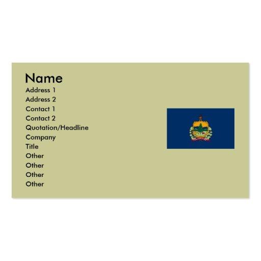 Bandera del estado de Vermont Tarjetas De Visita