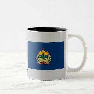 Bandera del estado de Vermont Taza De Dos Tonos