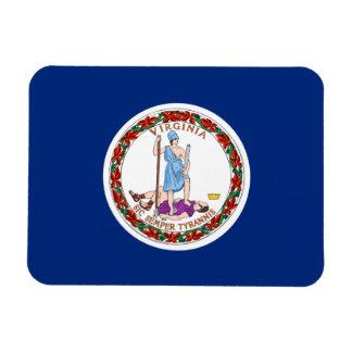 Bandera del estado de Virginia Imán Foto Rectangular