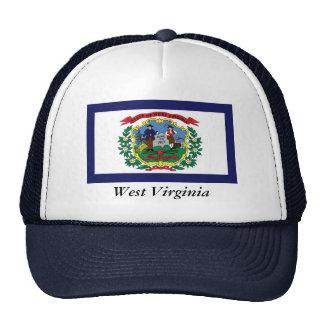 Bandera del estado de Virginia Occidental Gorras De Camionero