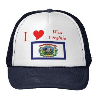 Bandera del estado de Virginia Occidental Gorros Bordados