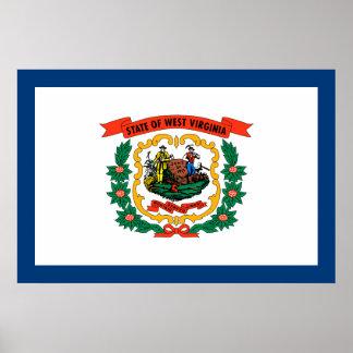 Bandera del estado de Virginia Occidental Posters