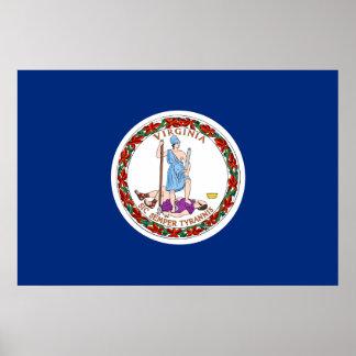 Bandera del estado de Virginia Poster