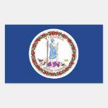Bandera del estado de Virginia Rectangular Pegatinas